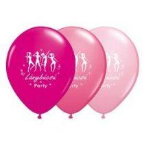 "Lánybúcsúra latex lufi 11"" 28cm  6db Lánybúcsú Party, q33381"