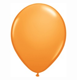 "QUALATEX 11"" (28cm-es) Latex léggömb, standard színek, narancssárga lufi, standard orange"