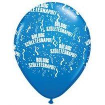 """Szülinapi latex lufi 11"""" 28cm 6db Boldog születésnapot! sötétkék, q48008-1rp"""