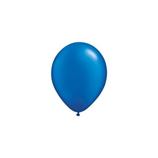 """QUALATEX 11"""" (28cm-es) Latex léggömb, pearl színek gyöngyház zafírkék lufi, pearl sapphire blue"""