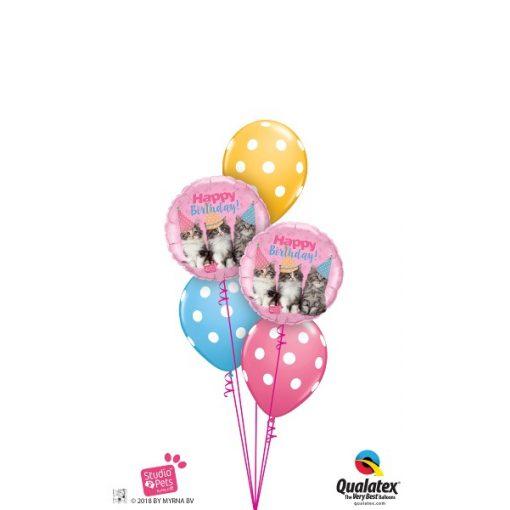 Héliumos luficsokor szülinapra, cirkusz, Happy Birthday - INGYENES KISZÁLLÍTÁSSAL