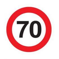 Tábla sebességkorlátozó számmal 40cm 70-es számmal, 32803