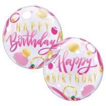 """Szülinapi Bubbles lufi 22"""" 56cm Héliummal töltve Happy Birthday, 87745"""