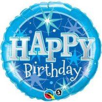 """Szülinapi fólia lufi 18"""" 45cm Happy Birthday, 37919, héliummal töltve"""
