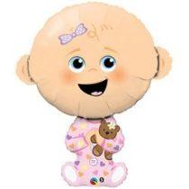 """Óriás fólia lufi 38""""  97cm Baby girl, 43362, héliummal töltve"""