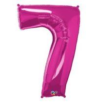 """Számos lufi 34"""" 86cm óriás rózsaszín fólia szám 7, Héliummal töltve, 30589"""