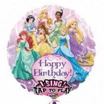 """Éneklő, zenélő lufi 28"""" (71cm) Happy Birthday, Princess, Héliummal töltött, n2588401"""