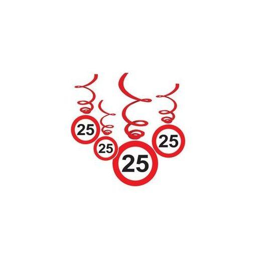 Sebességkorlátozó függő dekoráció 6db-os 25-ös számmal, 32971