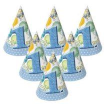 Csákó Boldog 1. születinapot! Kék, 6db, 24589
