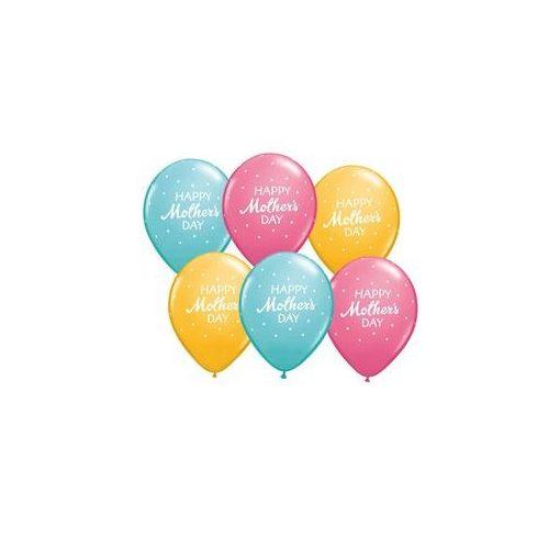 "Latex lufi 11"" 28cm Happy Mother's Day, 57182bont"