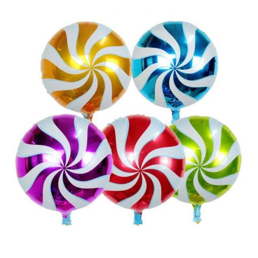 """Candy, nyalóka fólia lufi 18"""" 45cm Lollipop, 64329, héliummal töltve"""