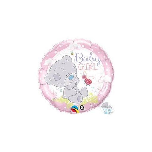 "Fólia lufi babaszületésre 18"" 45cm - Baby girl, 28170, héliummal töltve"