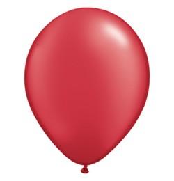 """QUALATEX 11"""" (28cm-es) Latex léggömb, pearl színek gyöngyház piros lufi, pearl ruby red"""