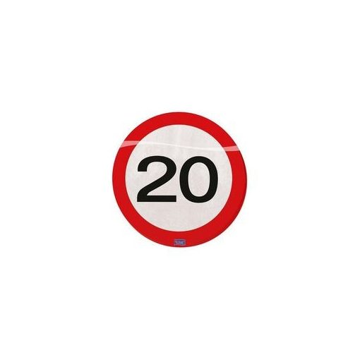 Szalvéta sebességkorlátozó számos 30cm 20db 20-as számmal f28320