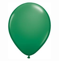 "QUALATEX 16"" (40cm-es) Latex léggömb, standard színek, zöld lufi, standard green"