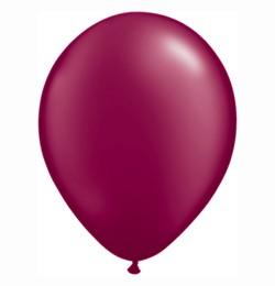 """QUALATEX 11"""" (28cm-es) Latex léggömb, pearl színek gyöngyház bordó lufi, pearl burgundy"""