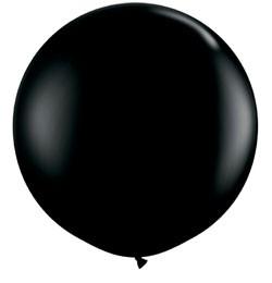 3 feet 91cm óriás latex léggömb fashion fekete lufi, fashion onyx black
