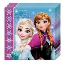 Szalvéta 33x33cm 20db Frozen, Jégvarázs, 86757