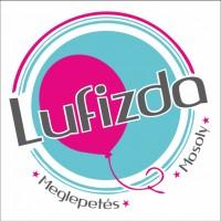 """Deco Bubble lufi 24"""" 61cm krisztálytiszta, átlátszó, lufi mintával, Héliummal töltve, 16661"""