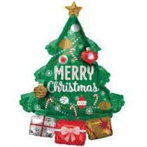 "Óriás fólia lufi 34""  86cm, karácsonyfa, n3829801, héliummal töltve"