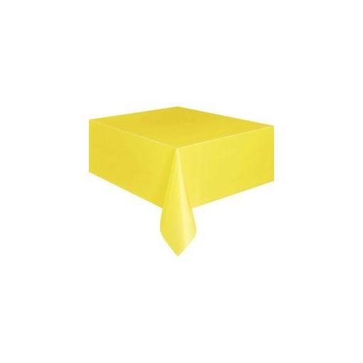 Műanyag asztalterítő 137x274cm sárga, p5093