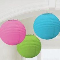 Lampion gömb 24cm 3db vegyes színű a24055-90-55