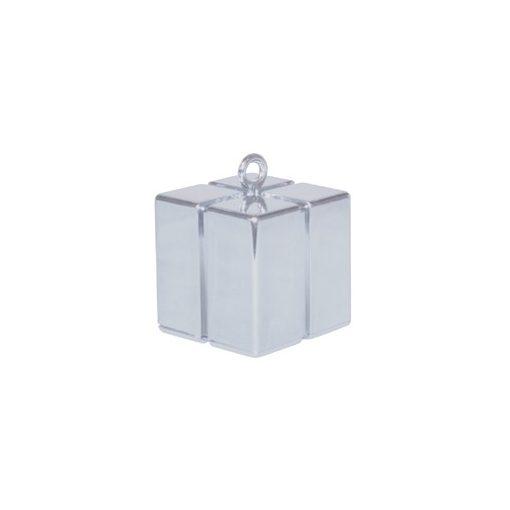 Léggömbsúly, nehezék 110g ajándékdoboz forma, ezüst színben, 14386