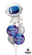 Héliumos luficsokor születésnapra, űrhajós - INGYENES KISZÁLLÍTÁSSAL