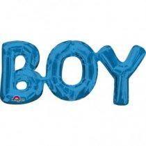 Fólia lufi - BOY kék felirat, csak levegővel tölthető, 55x25cm, 07-3309801