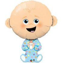 "Óriás fólia lufi 38""  97cm Baby boy, 43326, héliummal töltve"