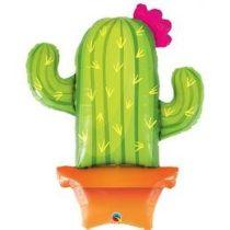 """Óriás fólia lufi 39""""  94cm kaktusz, 78652, héliummal töltve"""