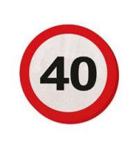 Szalvéta sebességkorlátozó számos 30cm 20db 40-es számmal