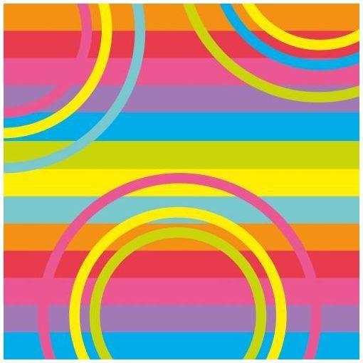 Szalvéta 33x33cm Mix-it 20db 3 rétegű