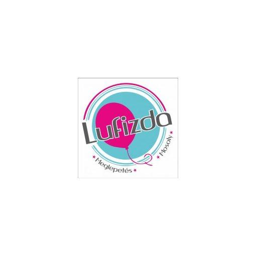 """Mosolygó fólia lufi 18"""" 45cm, smiley face, piros, 29636, héliummal töltve"""