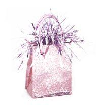 Léggömbsúly, nehezék 160g ajándéktasak forma, rózsaszín színben, 49012