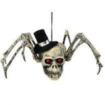 Koponyás pók dekoráció Halloween, 72158