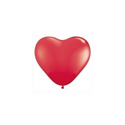 "Latex lufi 11"" 28cm piros szív"