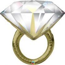 "Óriás esküvői fólia lufi 37"" 94cm, gyűrű, Wedding ring, 57819, héliummal töltve"