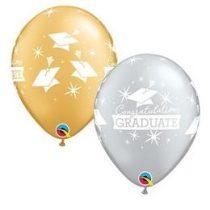 """Ballagási latex lufi 11"""" 28cm Congratulations Graduate!, 57186bont"""