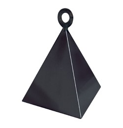 Léggömbsúly, nehezék 160g piramis forma, fekete színben, 14428
