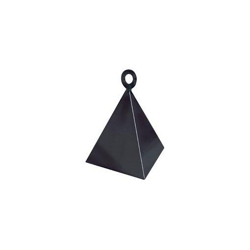 Léggömbsúly, nehezék 110g piramis forma, fekete színben, 14428