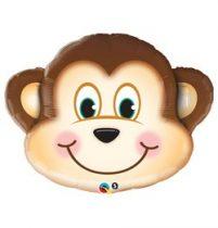 """Óriás fólia lufi 35"""" majom, 16097, héliummal töltve"""