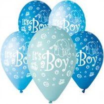 """Latex lufi (gumi) 11"""" 10db/csomag It's a boy - 11-printIts a boy"""