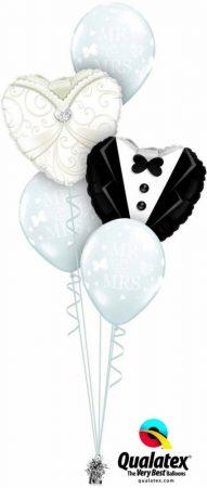 Héliumos luficsokor esküvő, szerelem szív - INGYENES KISZÁLLÍTÁSSAL