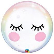 """Mintás Bubbles lufi 22"""" 56cm Unikornis Héliummal töltve, 13009"""
