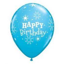 "Szülinapi latex lufi 11"" 28cm 6db Happy Birthday!, 17936"