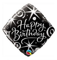 """Szülinapi fólia lufi 18"""" 45cm Happy Birthday, 29988, héliummal töltve"""