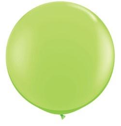 3 feet 91cm óriás latex léggömb fashion limezöld lufi, fashion lime green
