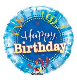 """Szülinapi fólia lufi 18"""" 45cm Happy Birthday, 25431, héliummal töltve"""