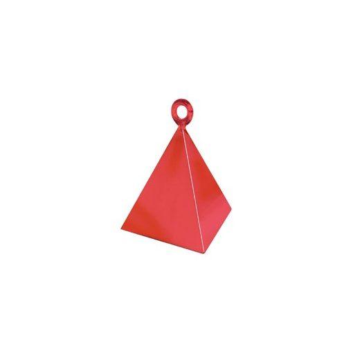 Léggömbsúly, nehezék 110g piramis forma, piros színben, 14417